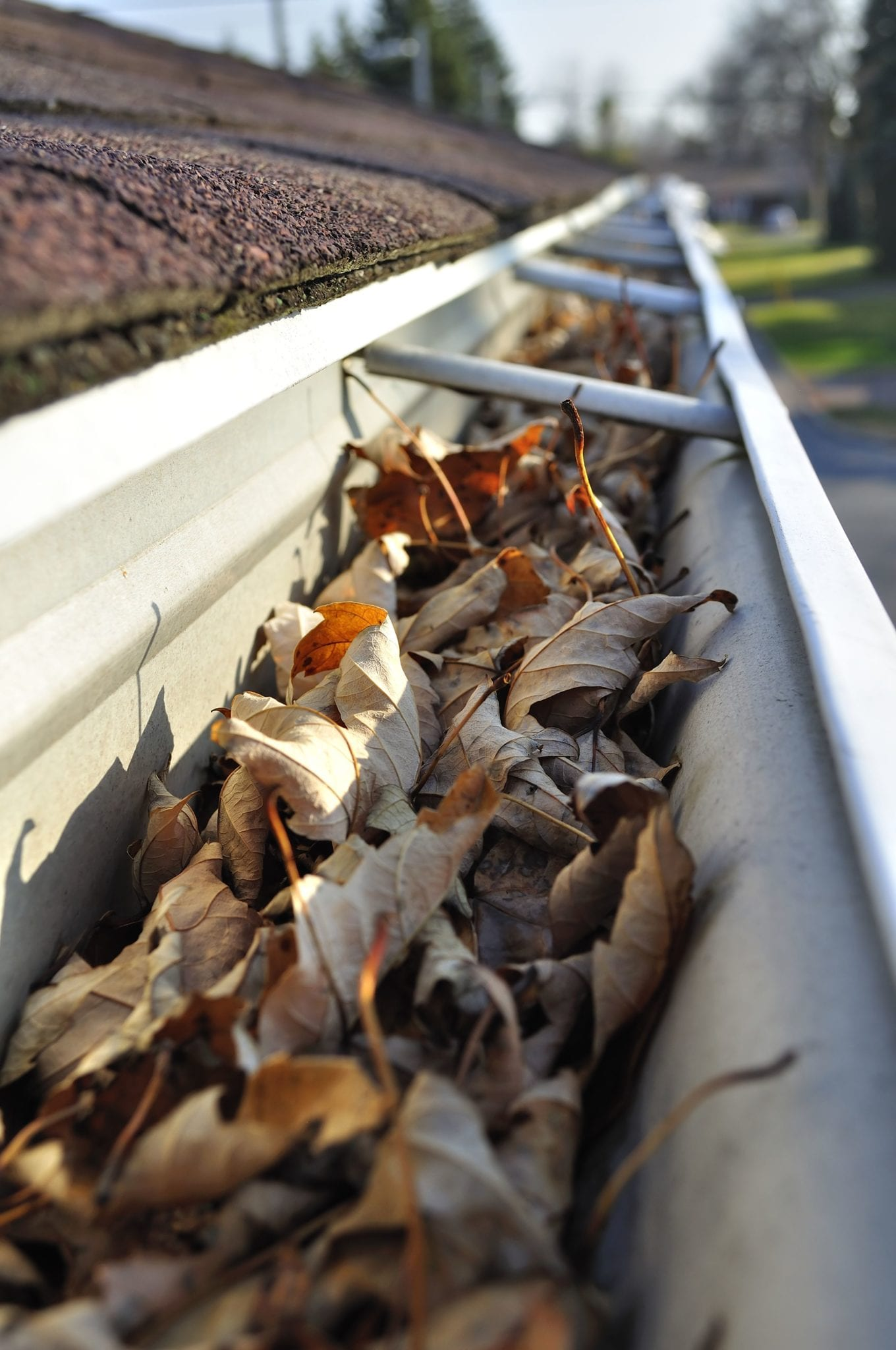 Gutter cleaning required