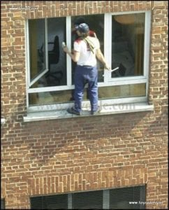 Not using a ladder is no better than using one unsafely!