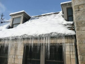 Gutter cleaning helps prevant ice dams.