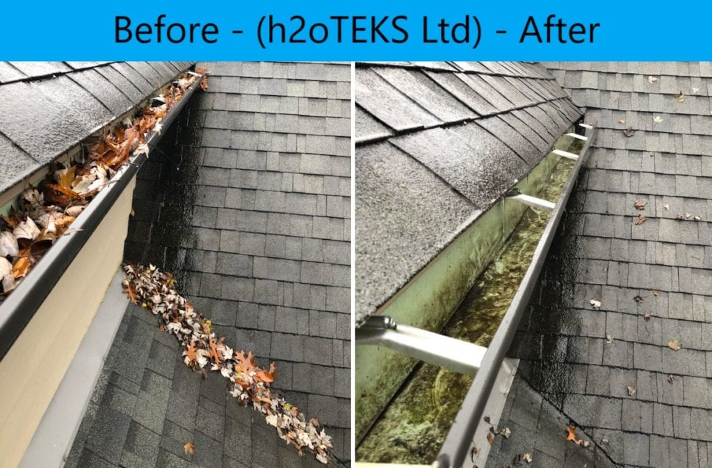 Gutter Cleaning Results - h2otTEKS